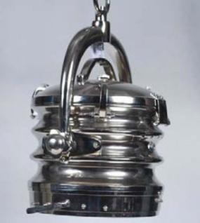 Casa Padrino Industrial Hängeleuchte Silber Vernickelt 40 x 40 x 49 cm - Industrie Design Vintage Lampe Leuchte