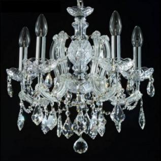 Casa Padrino Barock Decken Kristall Kronleuchter Silber 45 x H 42 cm Antik Stil - Möbel Lüster Leuchter Hängeleuchte Hängelampe
