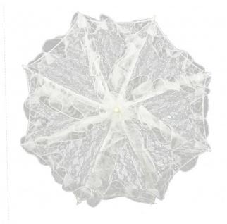 MySchirm Designer Brautschirm Hochzeitsschirm in creme mit einem sternenförmig angeordneten Muster - Vorschau 2