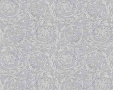 Versace Designer Barock Vliestapete IV 36692-4 - Silber Metallic - Design Tapete - Hochwertige Qualität