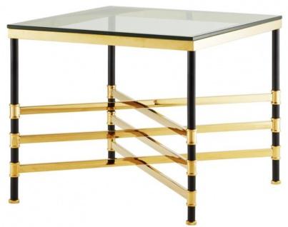 Casa Padrino Wohnzimmer Beistelltisch Gold / Schwarz 65 x 65 x H. 55 cm - Luxus Wohnzimmermöbel - Vorschau