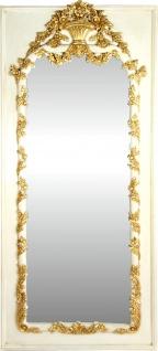 Casa Padrino Barock Wandspiegel Creme / Gold Antik Stil 85 x H. 190 cm - Prunkvoller Barock Spiegel mit wunderschönen Verzierungen