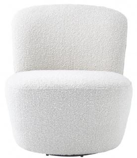 Casa Padrino Luxus Drehsessel Weiß 67 x 71 x H. 75 cm - Club Sessel - Luxus Kollektion - Vorschau 2