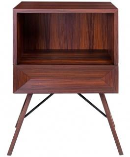 Casa Padrino Luxus Rosenholz Nachttisch mit Schublade Braun 50 x 40 x H. 70 cm - Schlafzimmermöbel