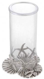 Casa Padrino Luxus Kerzenleuchter Antik Silber Ø 20, 5 x H. 31, 5 cm - Luxus Deko Accessoires - Vorschau 2