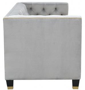 Casa Padrino Luxus Chesterfield Wohnzimmer Sofa 200 x 84 x H. 83 cm - Verschiedene Farben - Luxus Möbel - Vorschau 3