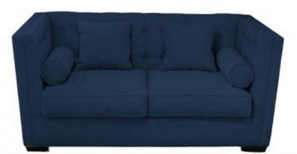 Casa Padrino Luxus Chesterfield Wohnzimmersofa Blau 180 x 100 x H. 85 cm - Couch / Schlafcouch mit 4 Kissen