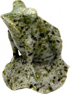 Casa Padrino Naturstein Frosch Skulptur 10 x 9 x H 10.5 cm - Dekoration Stein Figur - Handgefertigt