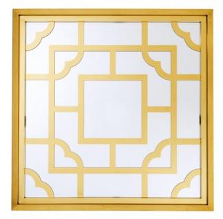 Casa Padrino Luxus Designer Wandspiegel Gold 100 x 100 cm - Luxury Hotel Collection