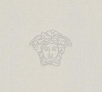 Versace Designer Barock Vliestapete Medusa 329501 Creme - Design Tapete - Deko Accessoires