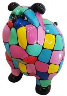 Casa Padrino Designer Dekofigur Alter Hund Bunt 75 x H. 63 cm - Wetterbeständige Deko Skulptur - Wohnzimmer Deko - Garten Deko - Designer Deko Tierfigur