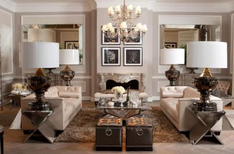 Casa Padrino Luxus Tischleuchte Schwarz Nickel - Luxus Hotel Leuchte - Vorschau 2