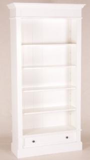 Casa Padrino Shabby Chic Landhaus Stil Schrank Bücherschrank Weiß B 100 H 200 cm- Schrank