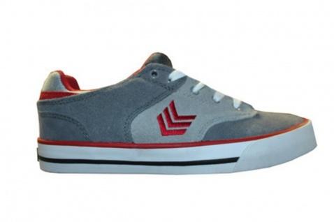 Vox Skateboard Schuhe Lockdown Grey Red White