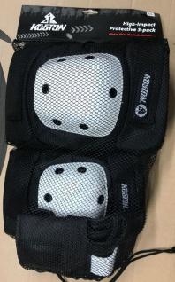 Koston Profi Skateboard / Longboard Schutzausrüstung Set Knie, Ellenbogen und Handgelenk Schoner XL Schwarz / Weiß - 1B Ware mit Lagerspuren
