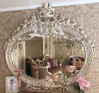 Casa Padrino Luxus Barock Spiegel Antik Gold - Prunkvoller handgefertigter Wandspiegel im Barockstil - Antik Stil Garderoben Spiegel - Wohnzimmer Spiegel - Barock Möbel