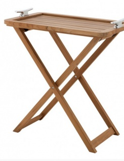 Casa Padrino Designer Luxus Bar Tisch Marine Teak Holz - edel verarbeit