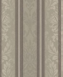 Casa Padrino Barock Textiltapete Hellgrau / Grau / Taupe 10, 05 x 0, 53 m - Wohnzimmer Tapete - Deko Accessoires