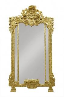 Casa Padrino Luxus Barock Wandpsiegel Gold - Hotel Möbel