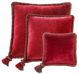 Casa Padrino Zierkissen 3er Set rot - Luxus Wohnzimmer / Hotel Kollektion