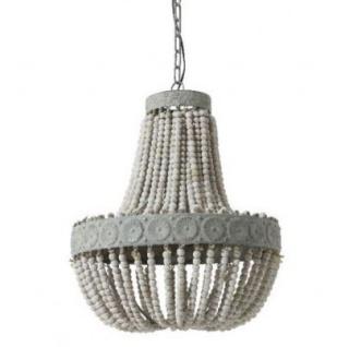 Casa Padrino Hängeleuchte Deckenleuchte Alt Weiß Durchmesser 52 x H 61, 5 cm - Möbel Lüster Leuchter Deckenleuchte Deckenlampe