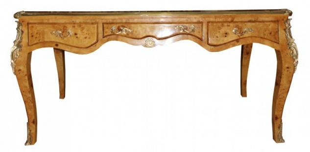 Casa Padrino Luxus Barock Schreibtisch Vogelaugen Ahorn Sekretär - Antik Stil