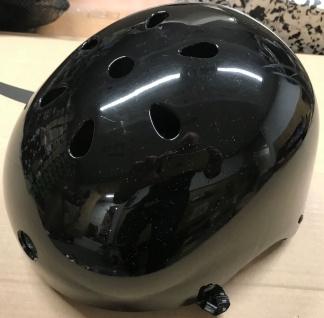 MySkatebrand Skateboard Helm L Schwarz - Bmx, Inliner, Longboard Helm - Schutzausrüstung Skateboard Helm - 1B Ware mit Lagerspuren