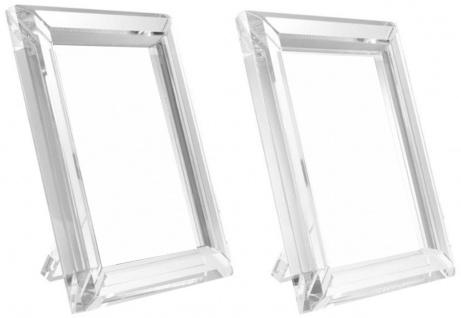 Casa Padrino Tisch-Bilderrahmen Set 19 x 2, 5 x H. 24 cm - Luxus Kristallglas Deko Accessoires