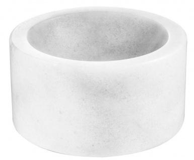 Casa Padrino Designer Marmor Schale Weiß 15 x H. 8 cm - Luxus Kollektion