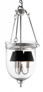 Casa Padrino Luxus Laterne - Luxus Nickel Hängeleuchte Durchmesser 32 x H 70 cm - Vorschau 3
