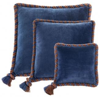 Casa Padrino Zierkissen 3er Set marine blau - Luxus Wohnzimmer / Hotel Kollektion