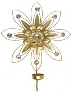 Casa Padrino Designer Wandkerzenhalter 4er Set Gold 26 x 6 x H. 32 cm - Dekorative Wanddeko