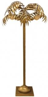 Casa Padrino Designer Stehleuchte Palme Messingfarben Ø 90 x H. 170 cm - Edle Stehlampe im Palmen Design - Luxus Leuchten - Luxus Qualität