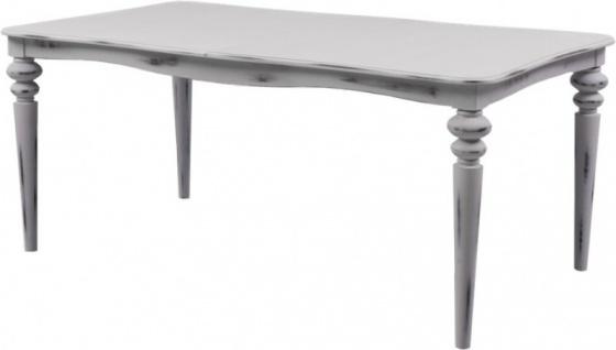 Casa Padrino Barock Esstisch Weiß Antik Stil ausziehbar 180 - 230 cm - Tisch