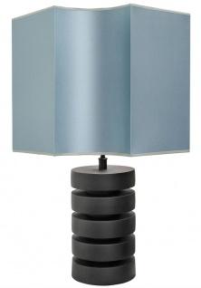 Casa Padrino Luxus Tischlampe Mattschwarz / Türkis 55 x H. 78 cm - Luxus Qualität