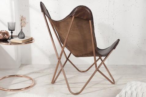 Casa Padrino Echleder Designer Sessel Braun - Relax Leder Stuhl - Vorschau 4
