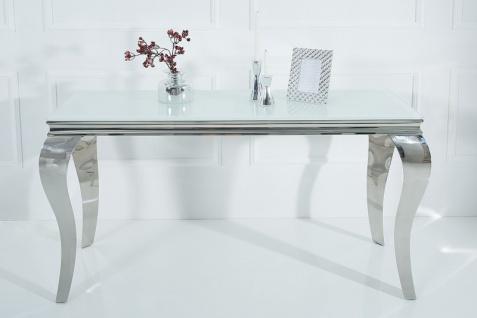 Casa Padrino Designer Konsole 140 cm Weiss / Silber - Modern Barock - Vorschau 4