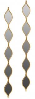 Casa Padrino Luxus Metall Wandspiegel Set Gold 148 cm - Designer Wandspiegel 2er Set