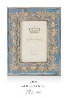 Casa Padrino Barock Bilderrahmen Blau Antik Look - Bilder Rahmen Foto Rahmen Jugendstil Antik Stil Mod AX11
