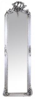 Casa Padrino Luxus Barock Wandspiegel Silber 175 x 55 cm - Massiv und Schwer - Antik Stil Spiegel