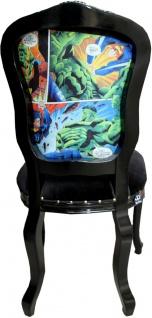 Casa Padrino Barock Luxus Esszimmer Stuhl Comic / Schwarz - Designer Stuhl - Design Möbel - Vorschau 2