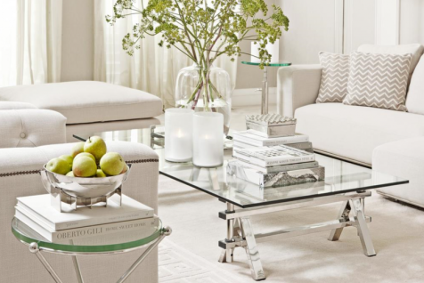 Casa Padrino Luxus Art Deco Designer Couchtisch 170 x 100 x H. 31-42 cm - Wohnzimmer Salon Tisch - Luxus Möbel - Vorschau 2