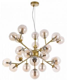 Casa Padrino Wohnzimmer Hängeleuchte Gold Ø 65 x H. 40 cm - Hängelampe mit kugelförmigen Lampenschirmen