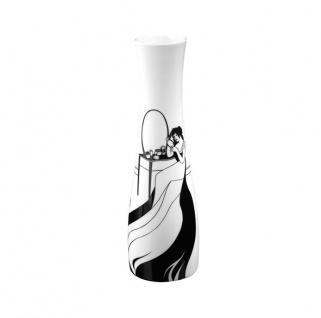 """Handgearbeitete Vase aus Porzellan mit einem Motiv von Audrey Beardsley """" Dame, ihr Haar kämmend"""", Höhe 32 cm - feinste Qualität aus der Tettau Porzellanfabrik - wunderschöne Vase"""