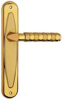 Casa Padrino Luxus Türklinken Set Gold 15, 5 x H. 27, 5 cm - Hochwertige Messing Türgriffe - Luxus Qualität