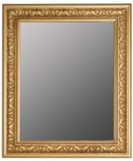 Casa Padrino Barock Spiegel Gold 52 x H. 62 cm - Handgefertigter Barock Wandspiegel mit Facettenschliff und wunderschönen Verzierungen