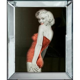 Casa Padrino Designer Bild Lady in Red Marilyn Monroe - Limited Edition