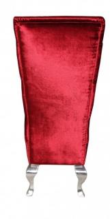 Casa Padrino Barock Esszimmer Stuhl Bordeaux / Silber - Designer Stuhl - Luxus Qualität Hochlehnstuhl Hochlehner - Vorschau 2