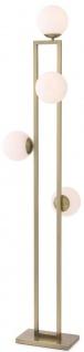 Casa Padrino Luxus Stehleuchte Messingfarben / Weiß 40 x 34, 5 x H. 175 cm - Moderne Wohnzimmer Lampe - Luxus Kollektion