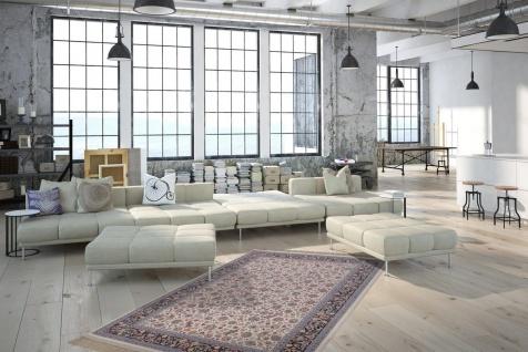 Casa Padrino Luxus Teppich mit Fransen Elfenbeinfarben - Verschiedene Größen - Gemusterter Wohnzimmer Teppich - Deko Accessoires - Vorschau 4